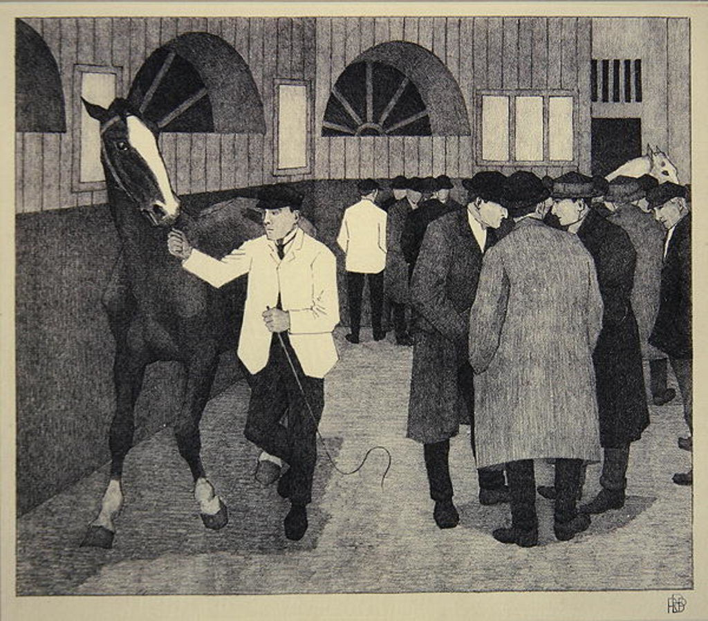 Detail of Horse Dealers at the Barbican by Robert Polhill Bevan