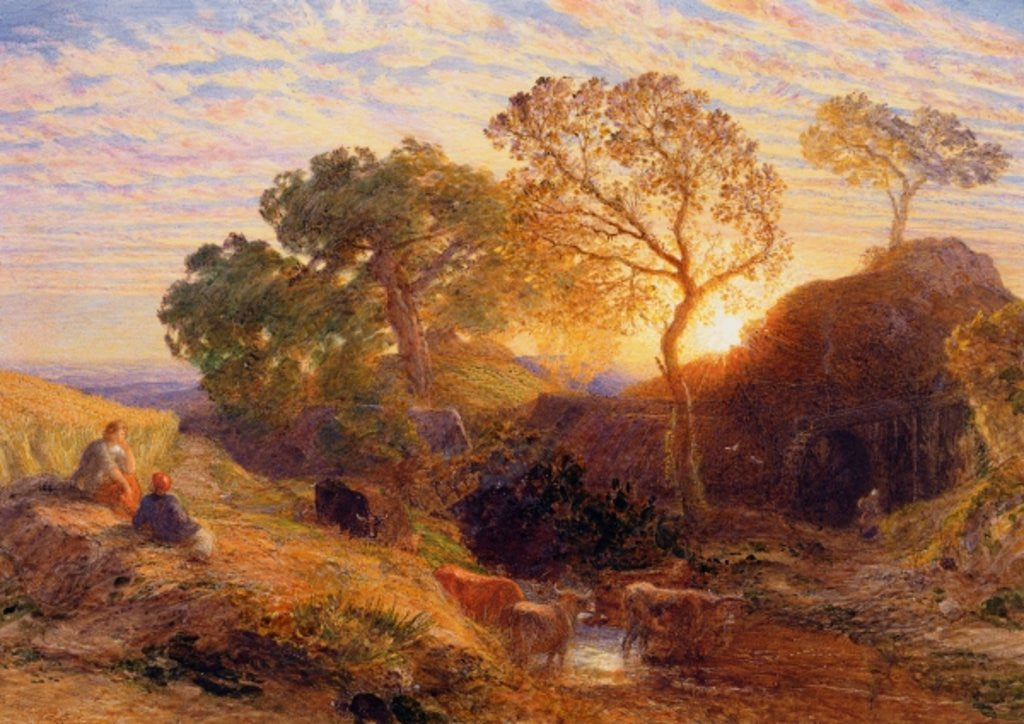 Detail of Sunset by Samuel Palmer