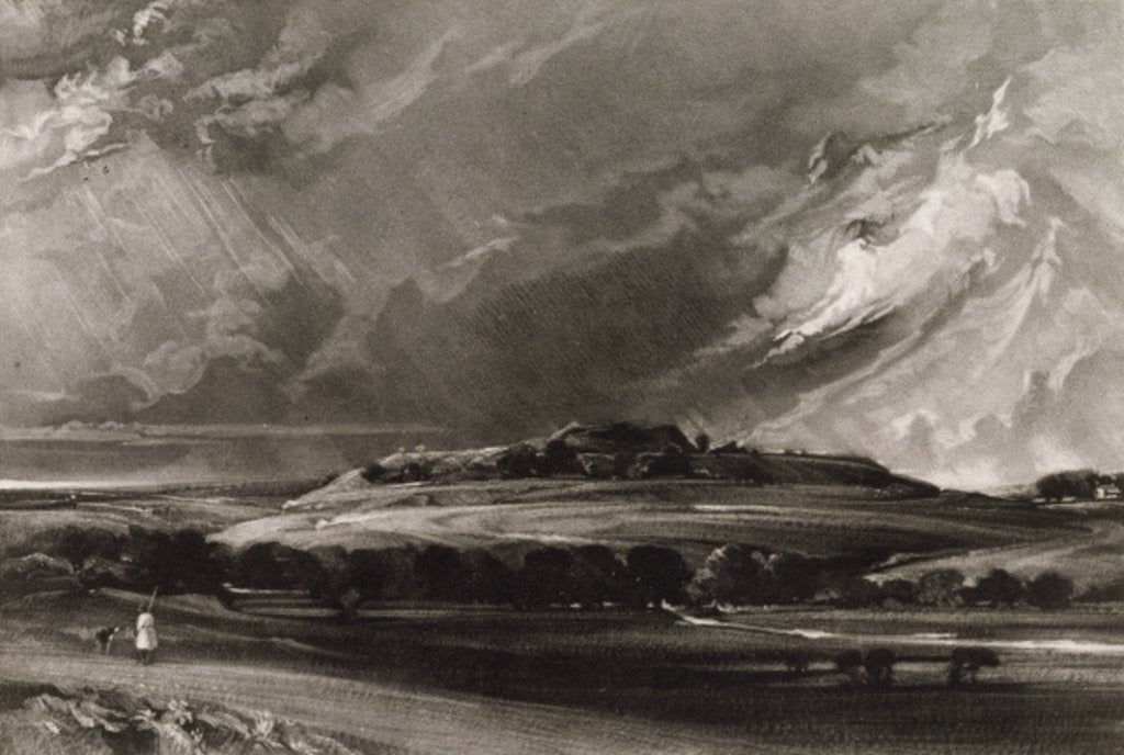 Detail of Old Sarum, engraved by David Lucas by John Constable