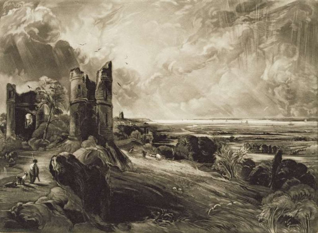 Detail of Hadleigh Castle, engraved by David Lucas by John Constable
