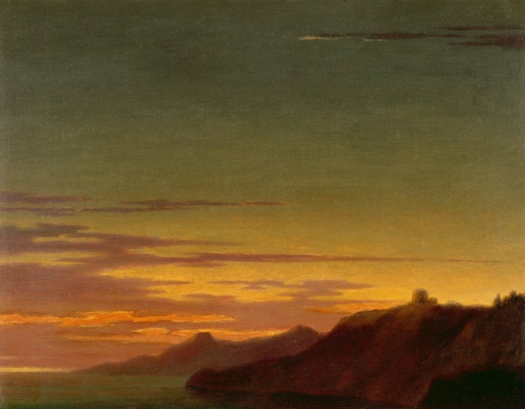 Detail of Close of the Day: Sunset on the Coast by Alexander Cozens