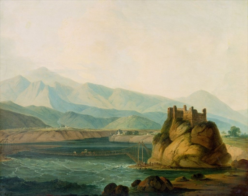 The Rope Bridge at Serinagur by Thomas Daniell