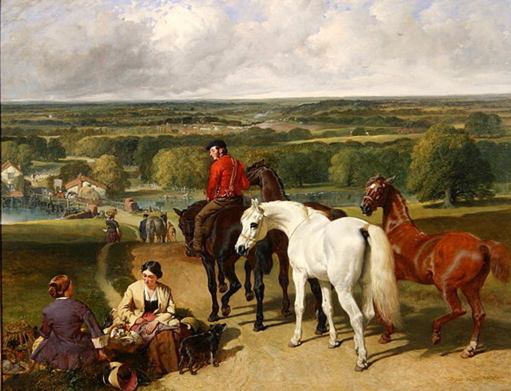 Detail of Exercising the royal horses by John Frederick Herring Snr