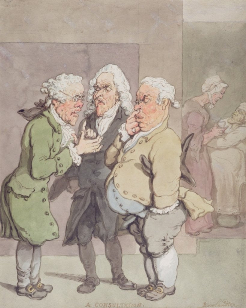 Detail of The Doctor's Consultation by Thomas Rowlandson