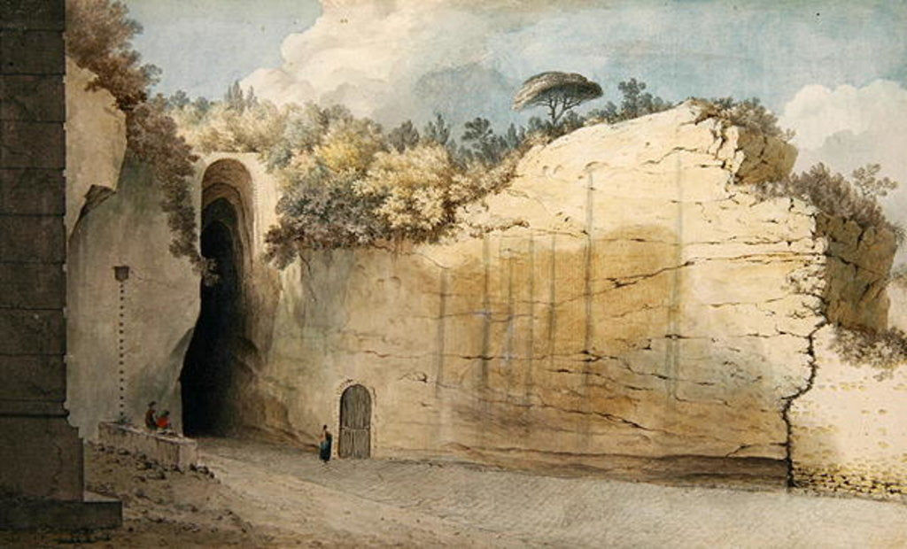 Detail of The Grotto at Posillipo by Thomas Jones