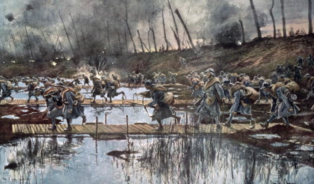 Detail of The Battle of the Yser in 1914 by Francois Flameng