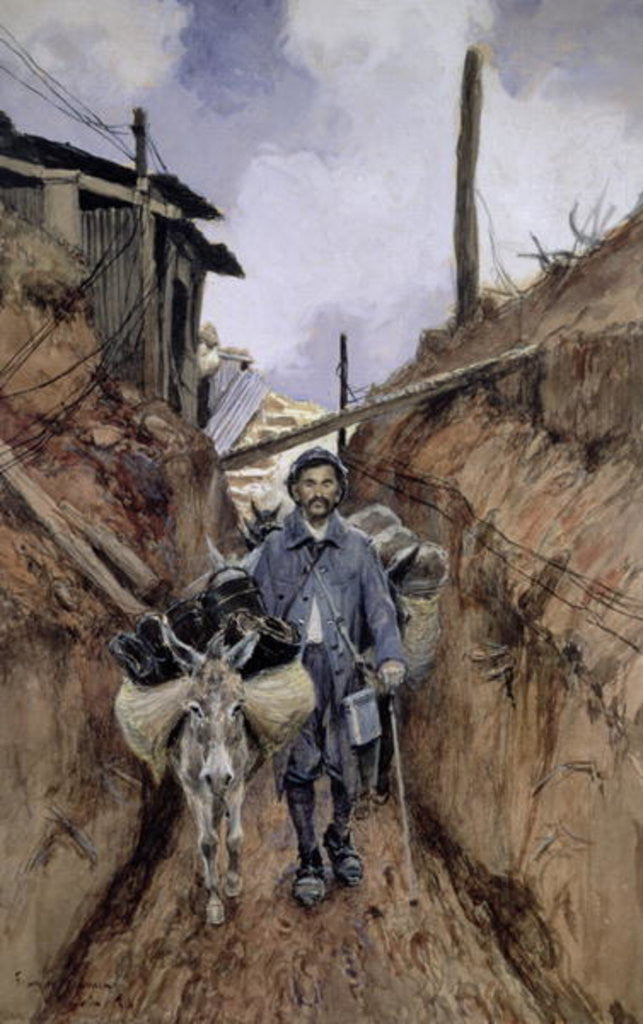 Detail of The Donkey, Somme by Francois Flameng