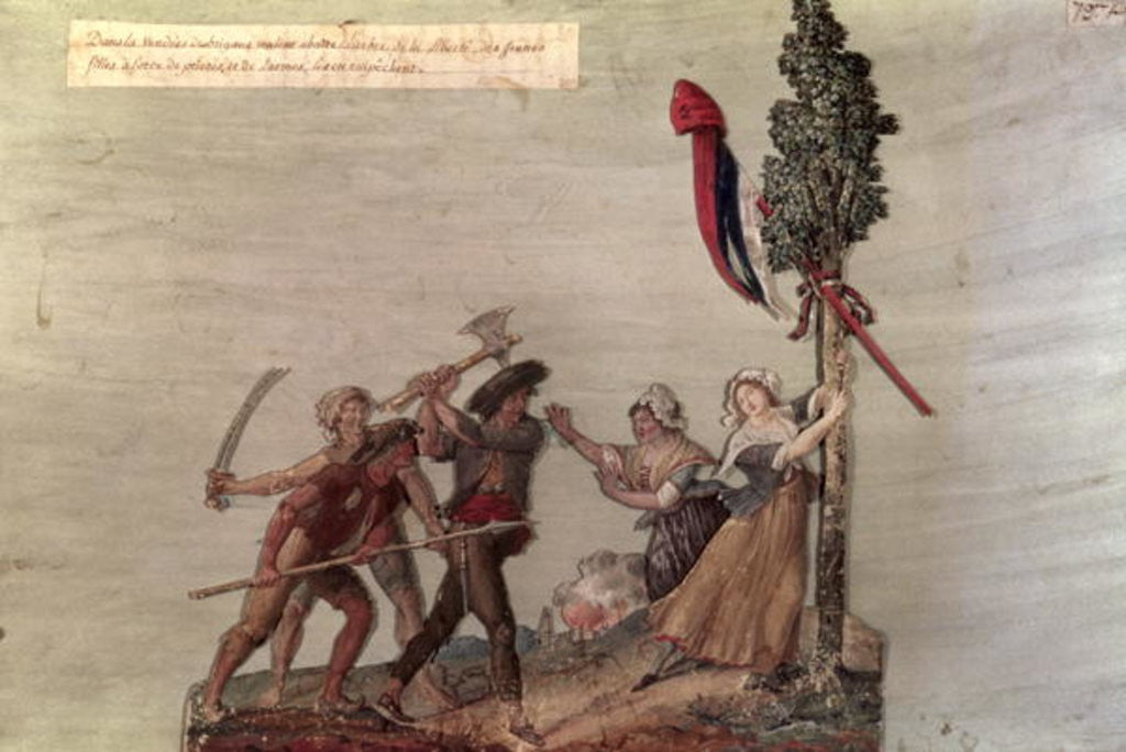 Detail of Fanatic Peasants in the Chouan War by Lesueur Brothers