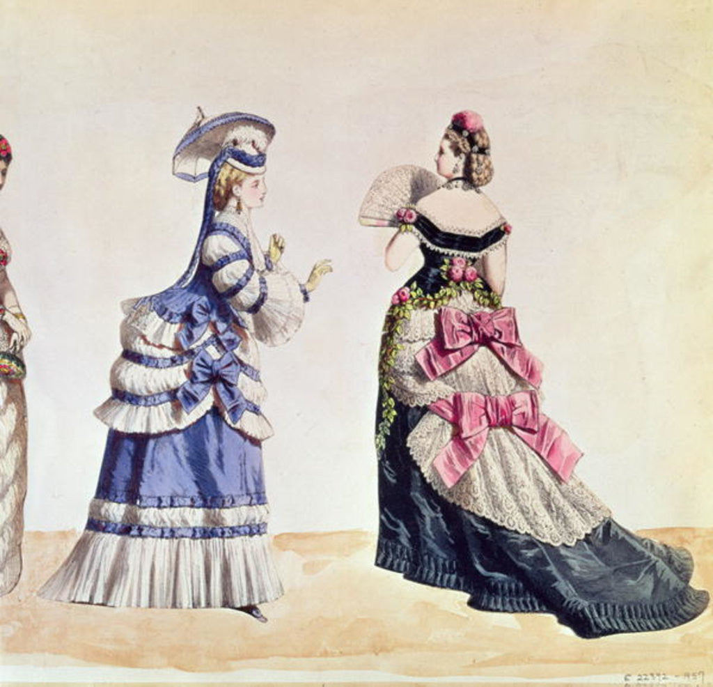 Detail of Fashion designs for women from the 1860's by Charles Frederick Worth