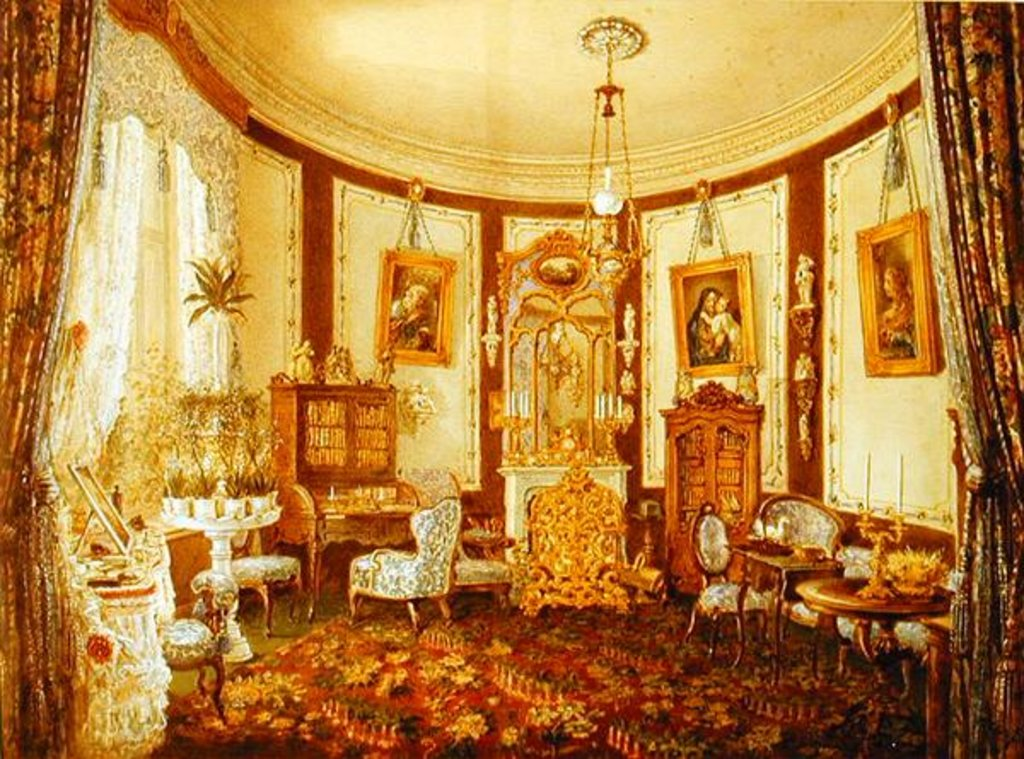 Detail of Drawing room of the Chateau de Sache by French School
