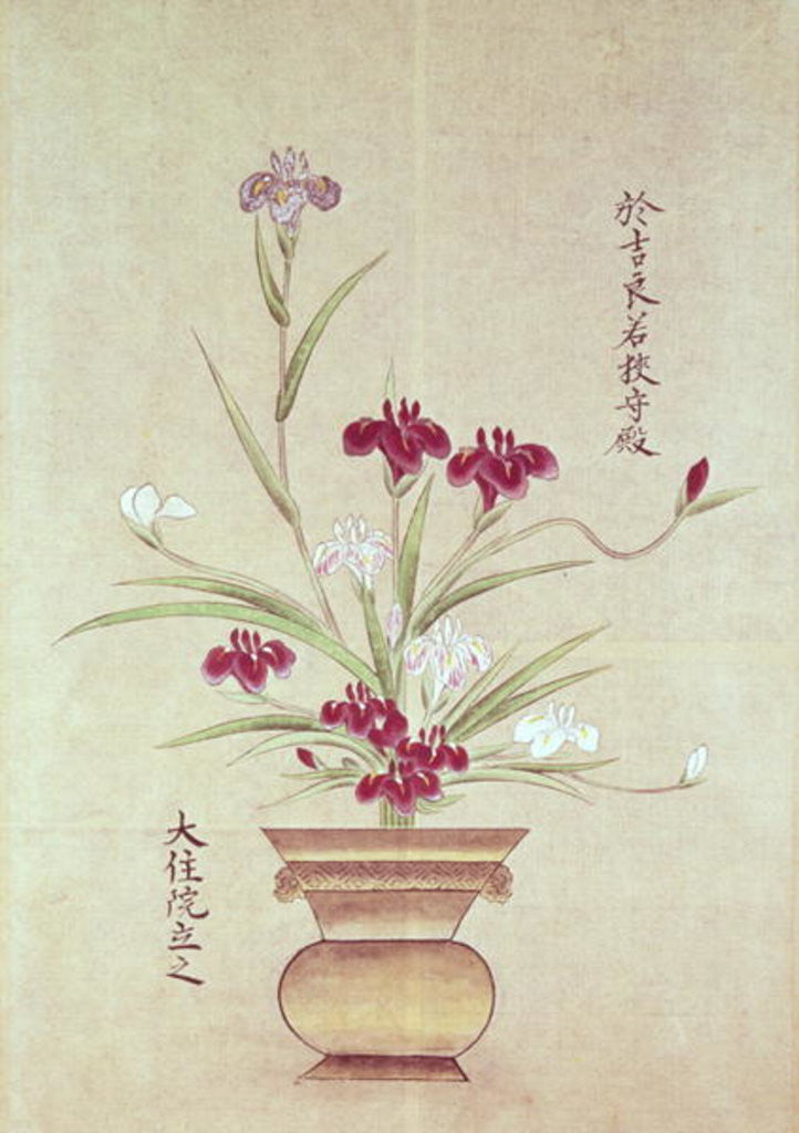 Detail of Orchids by Japanese School