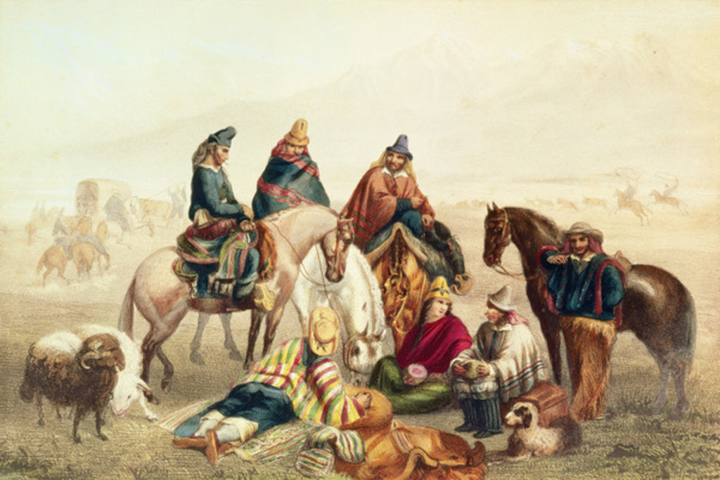 Detail of Polo at Isfahan by Johann Moritz Rugendas