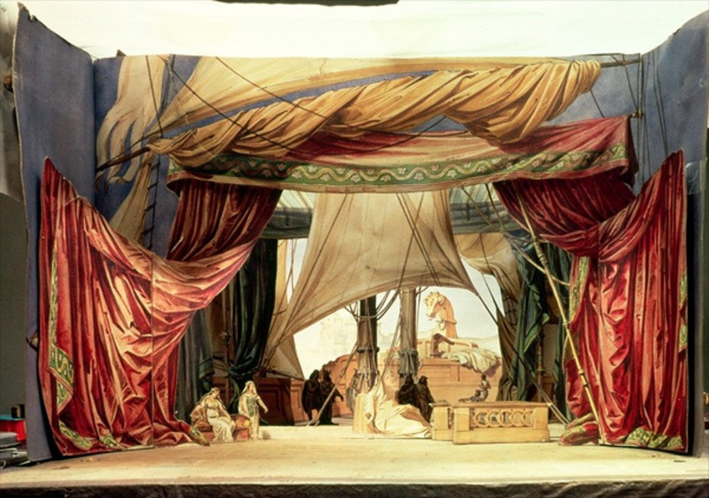 Detail of Stage model for the opera 'Tristan and Isolde' by Richard Wagner by German School
