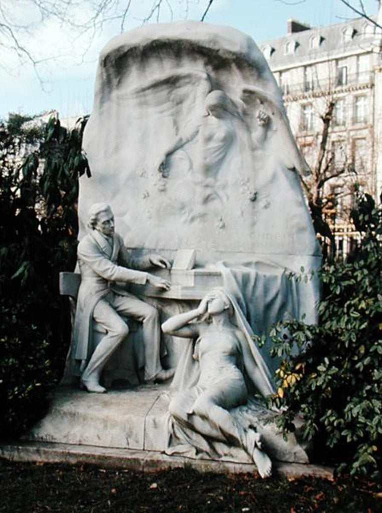 Detail of Monument to Frederic Chopin by French School