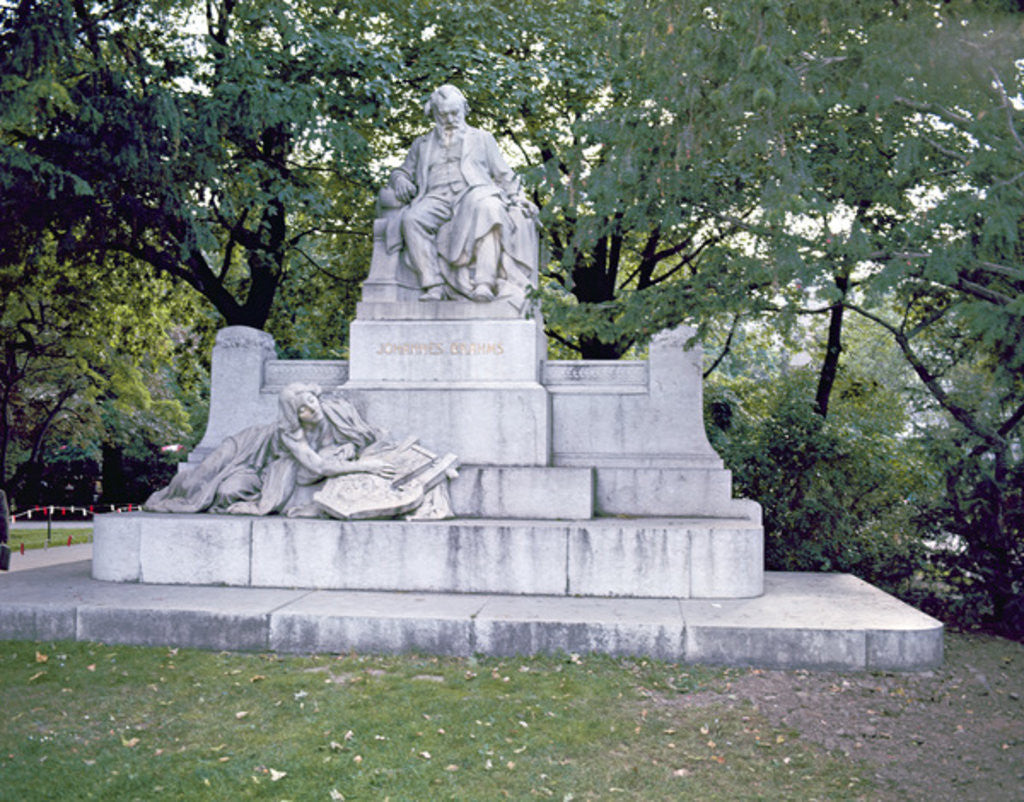Detail of Monument to Johannes Brahms by Rudolf von Weyr