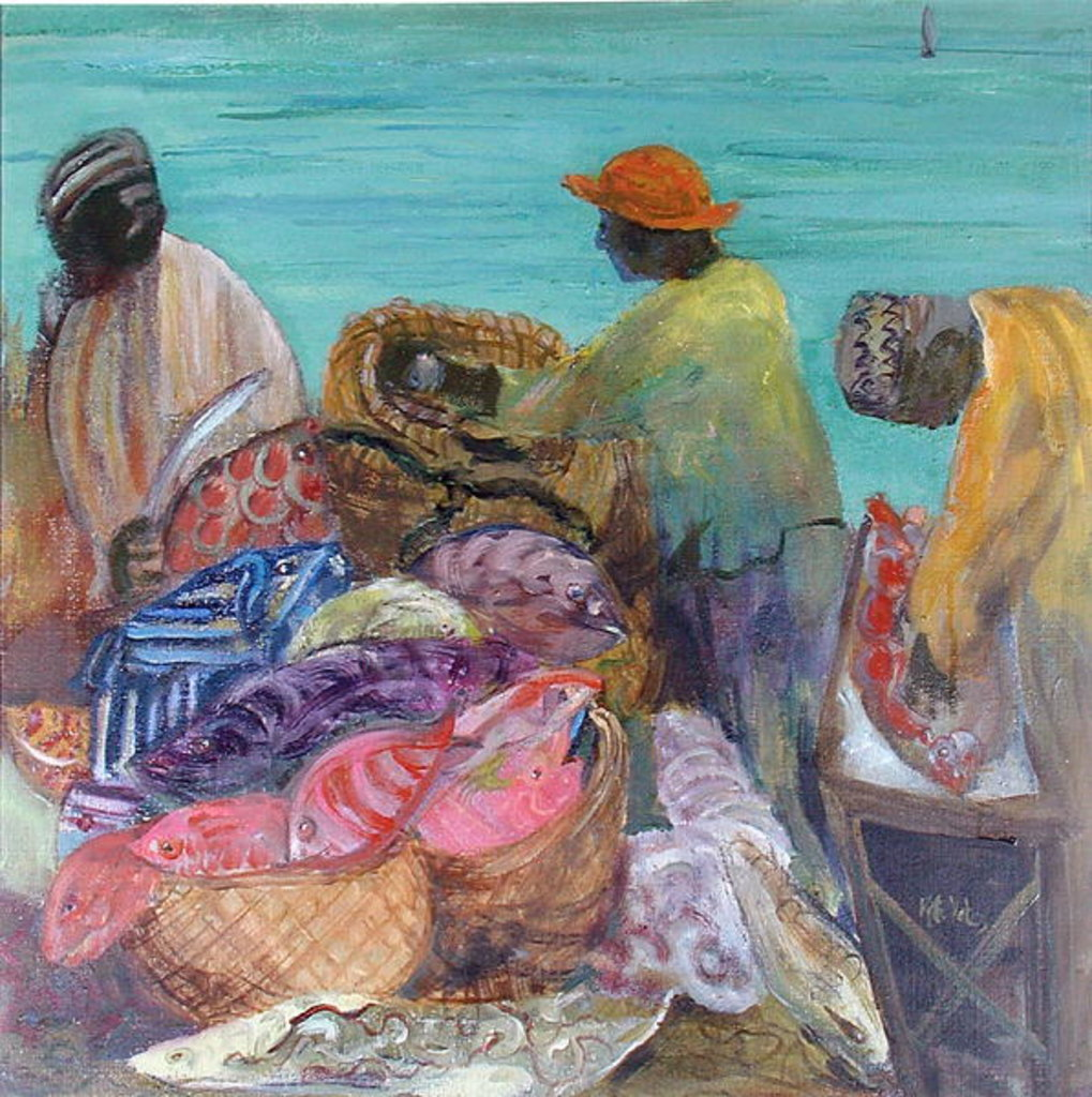 Detail of Sorting the Catch, Zanzibar by Kate Yates