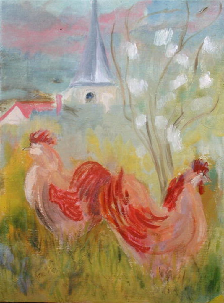 Detail of Spring Comes to Burgundy by Kate Yates