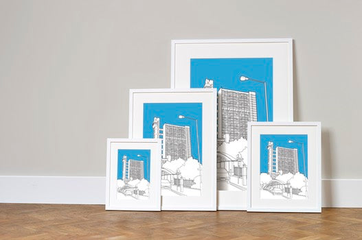 Wide range of framed print sizes
