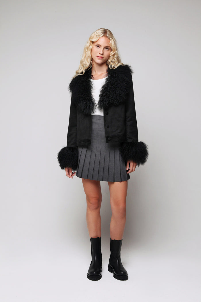 Petite Penny Jacket Black - Model Shot