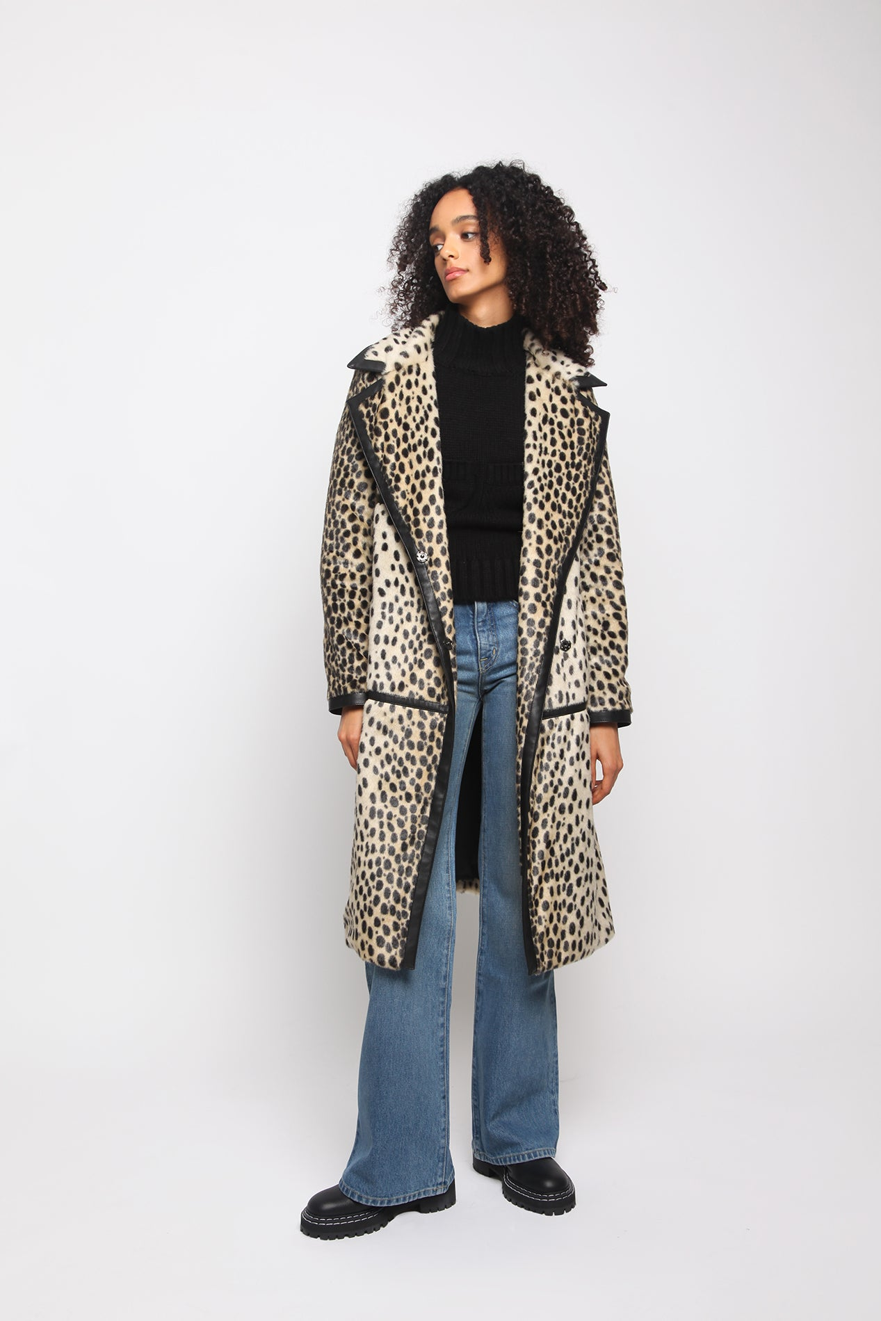 Dotty Jacket - Leopard - Model Shot