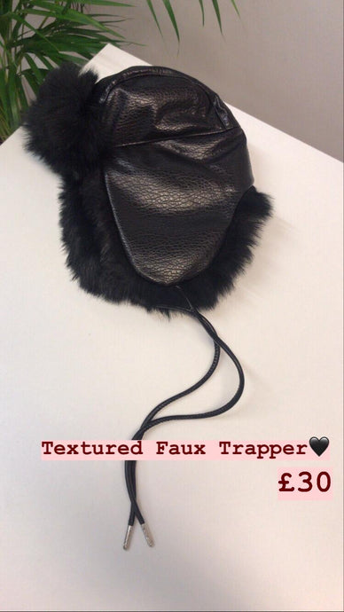 Textured faux trapper