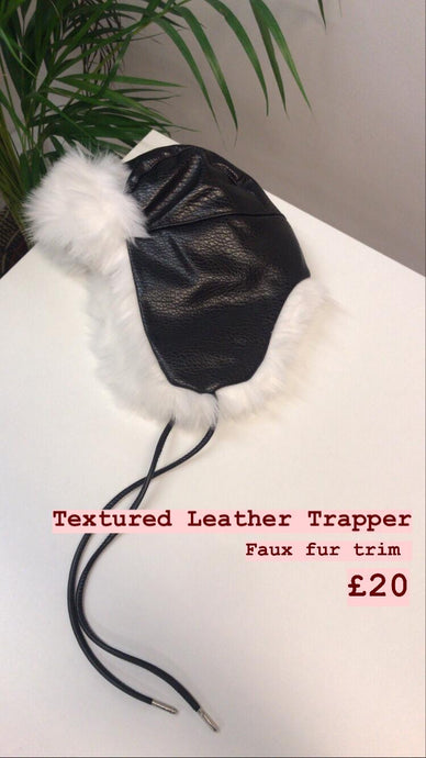 Textured leather trapper