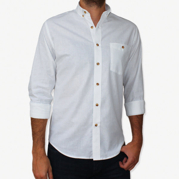 NEW Slim-Fit White Cotton Shirt