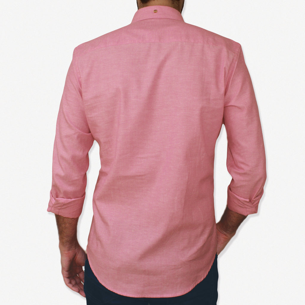 NEW Slim-Fit Pink Cotton Shirt