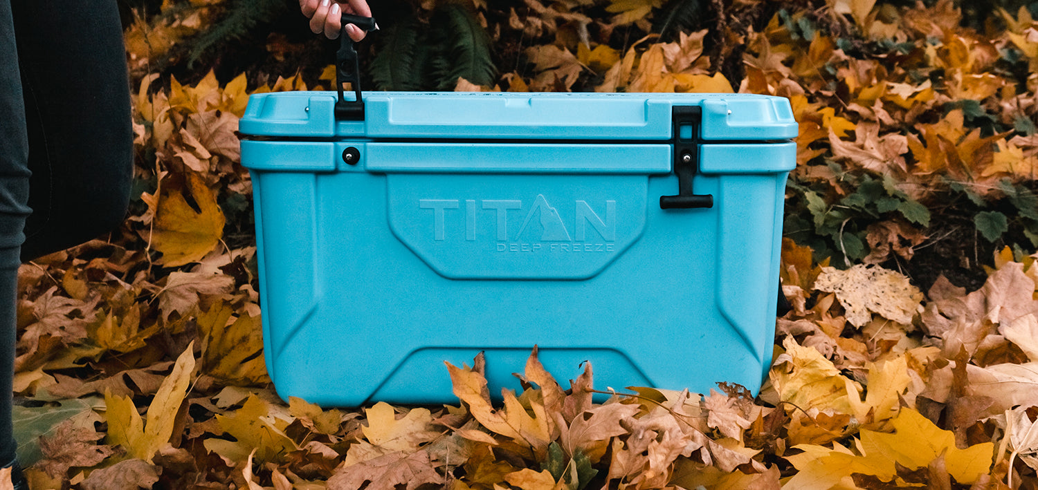 Premium Ice Chest Cooler in the fall