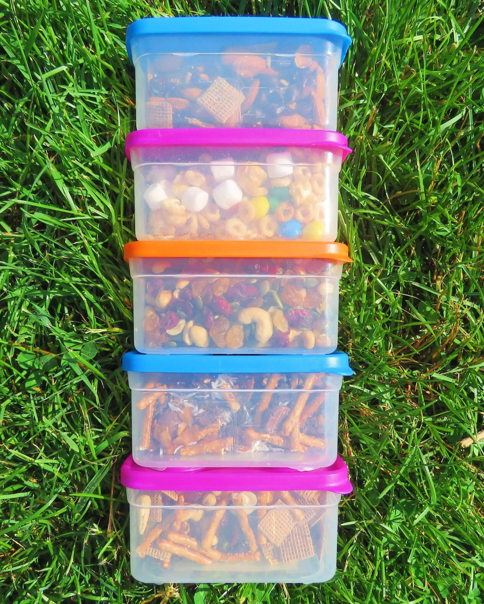 camping snacks containers lunch
