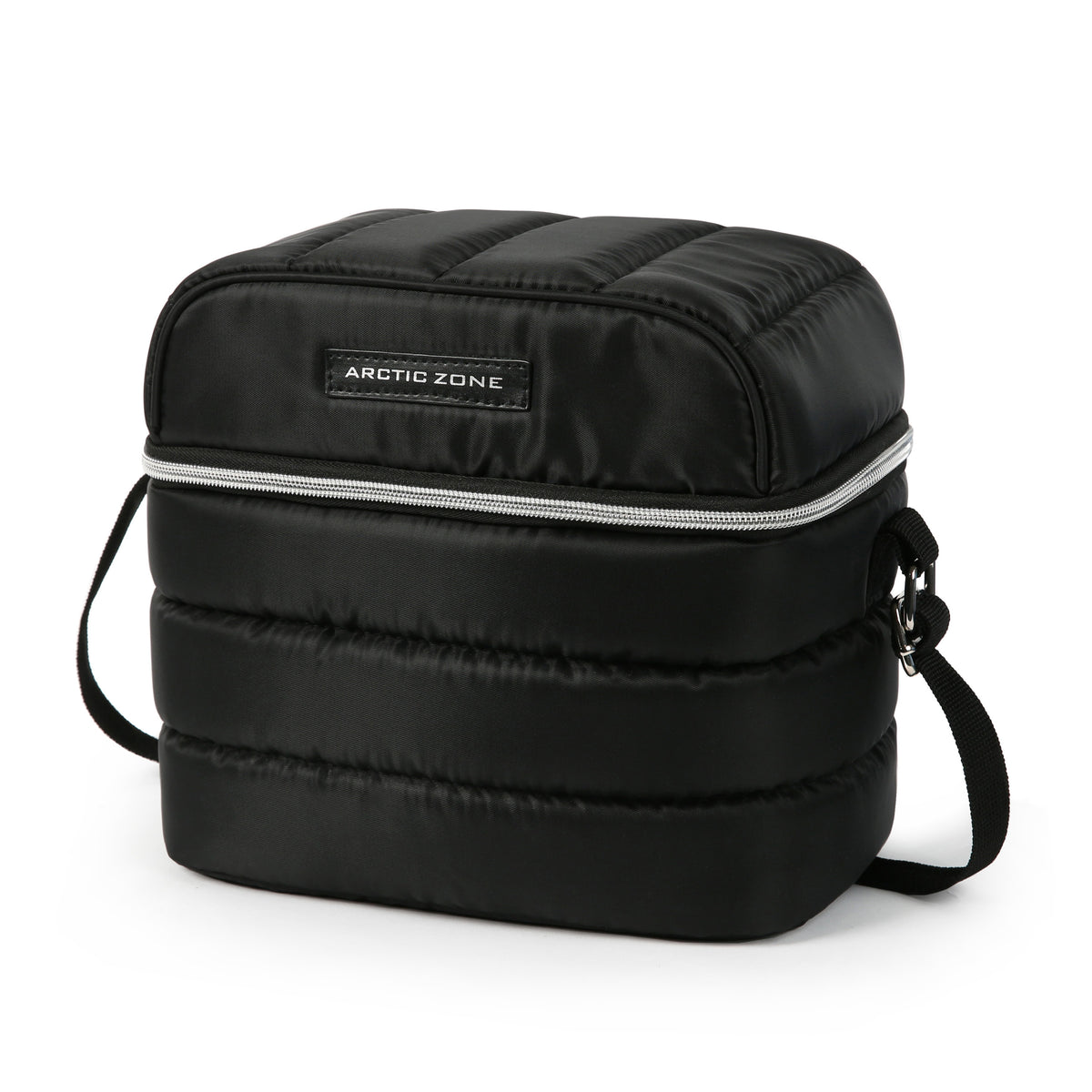 Arctic Zone® Crossbody Quilted Lunch Pack - Black - Front