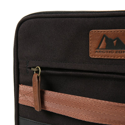 Arctic Zone® Canvas Expandable - Black - Zippered front pocket