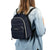 Arctic Zone® Quilted Cooler Backpack - Majolica Blue - model carrry on back