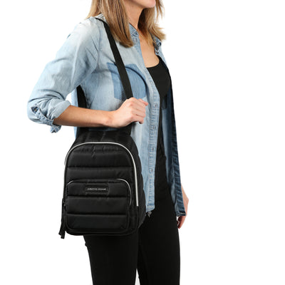 Arctic Zone® Quilted Cooler Backpack - Black - Model carry, tote style