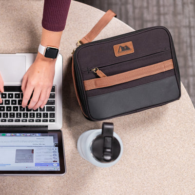 Arctic Zone® Canvas Expandable - Black - Lifestyle, desk lunch at the office