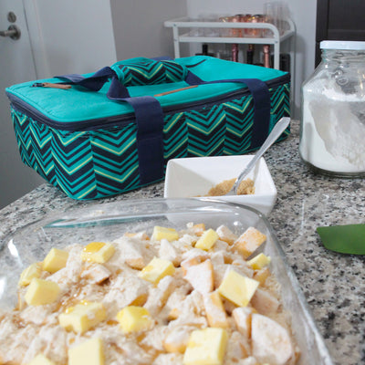 Arctic Zone® Food Pro Thermal Carrier -Teal - Lifestyle, baking apple pie