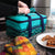 Arctic Zone® Food Pro Expandable Thermal Carrier - Teal - Lifestyle, packing the cooler at home
