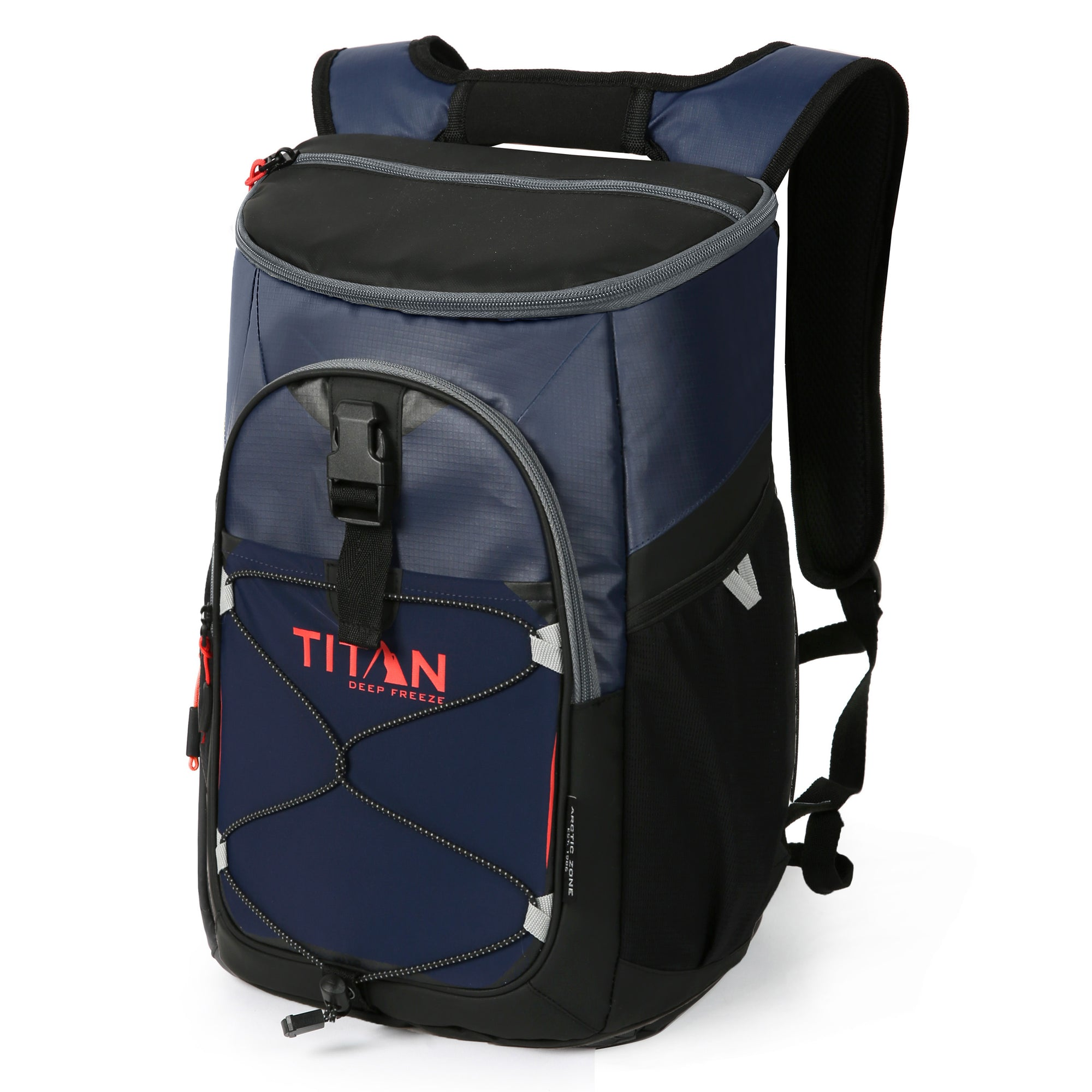 Titan Deep Freeze® 24 Can Backpack Cooler - Navy - Front, closed