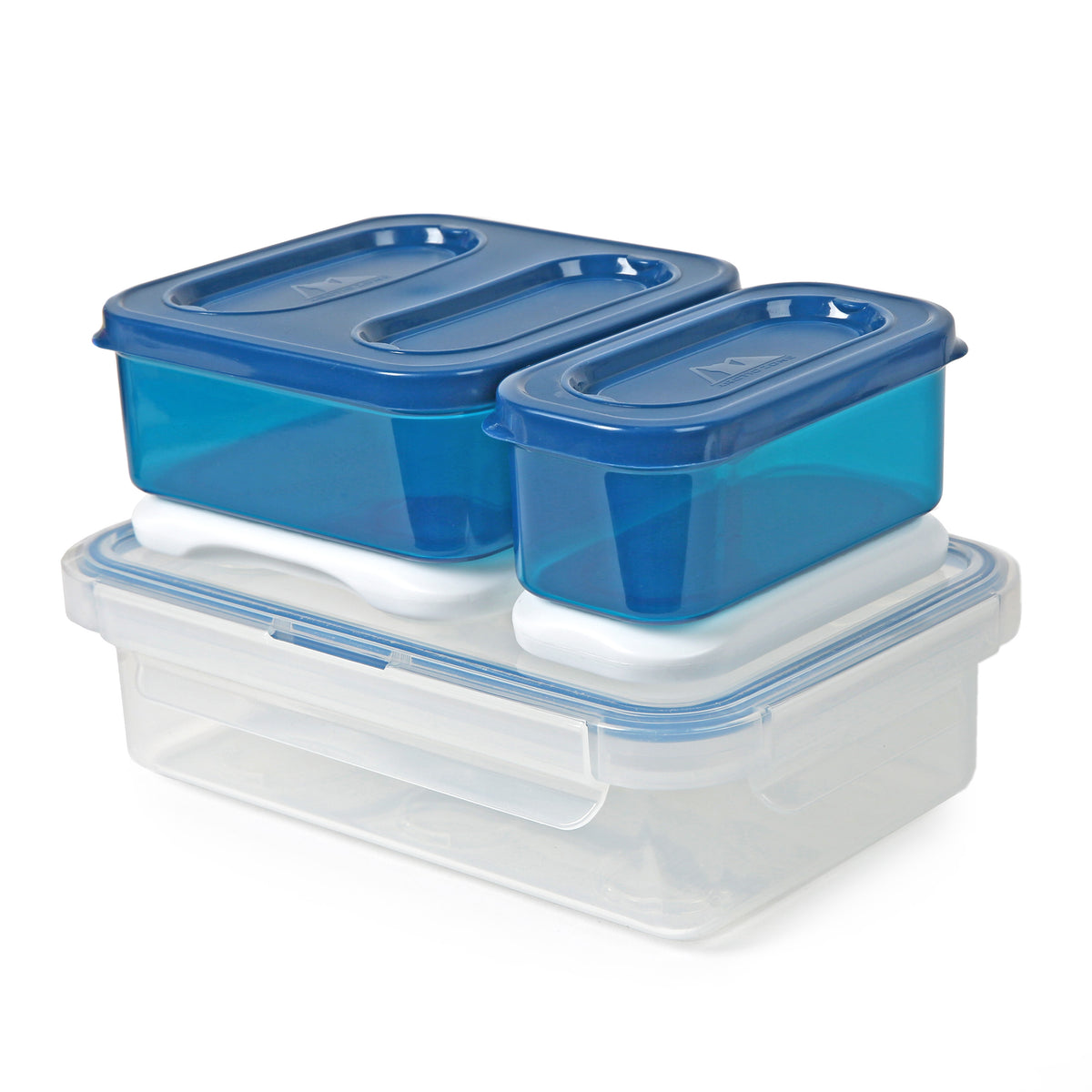 High Performance Meal Prep Day Pack - Blue - 8 piece container set