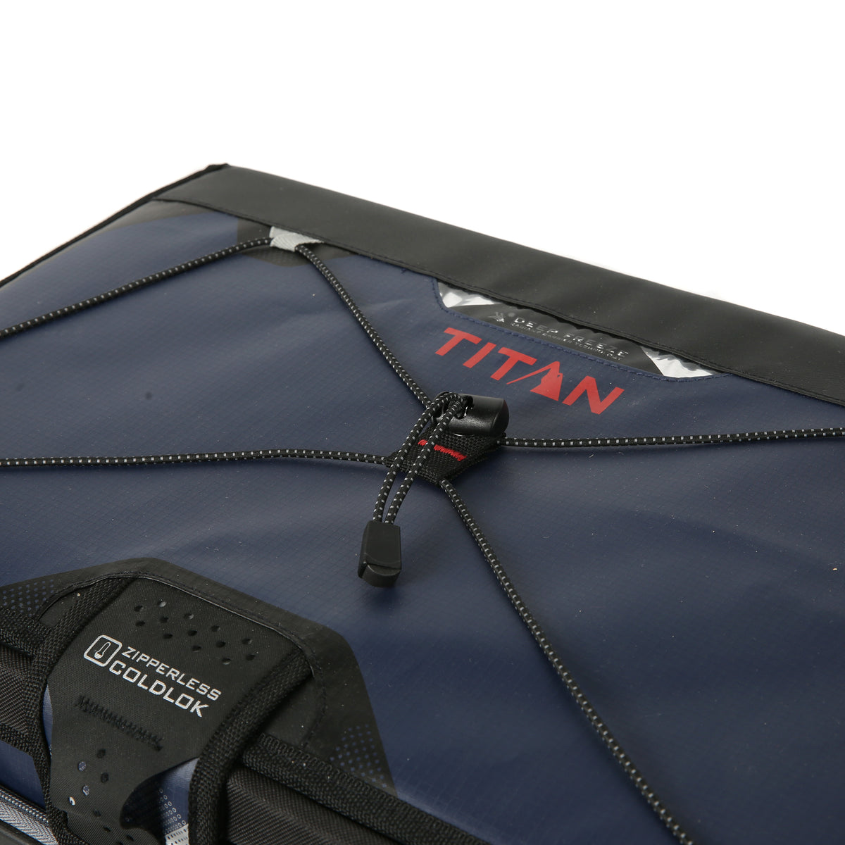 48 Can Titan Deep Freeze® Zipperless™ Cooler  - Navy - Bungee cord