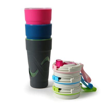Arctic Zone® 20oz Super Chug™ - Pink - All stacked