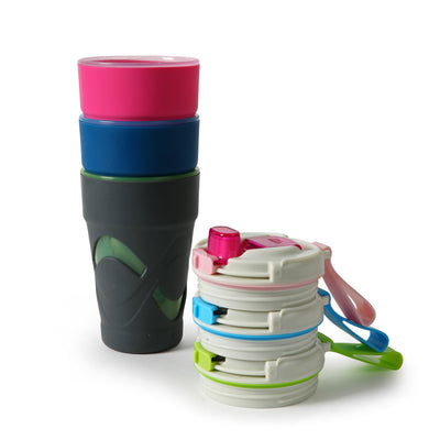 Arctic Zone® 16oz Super Chug™ - Gray - All stacked