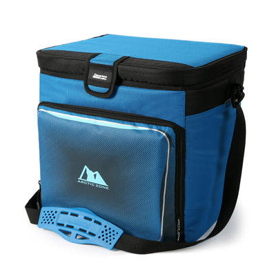Arctic Zone® 40 Can Zipperless™ HardBody® Cooler - Blue - Front, closed