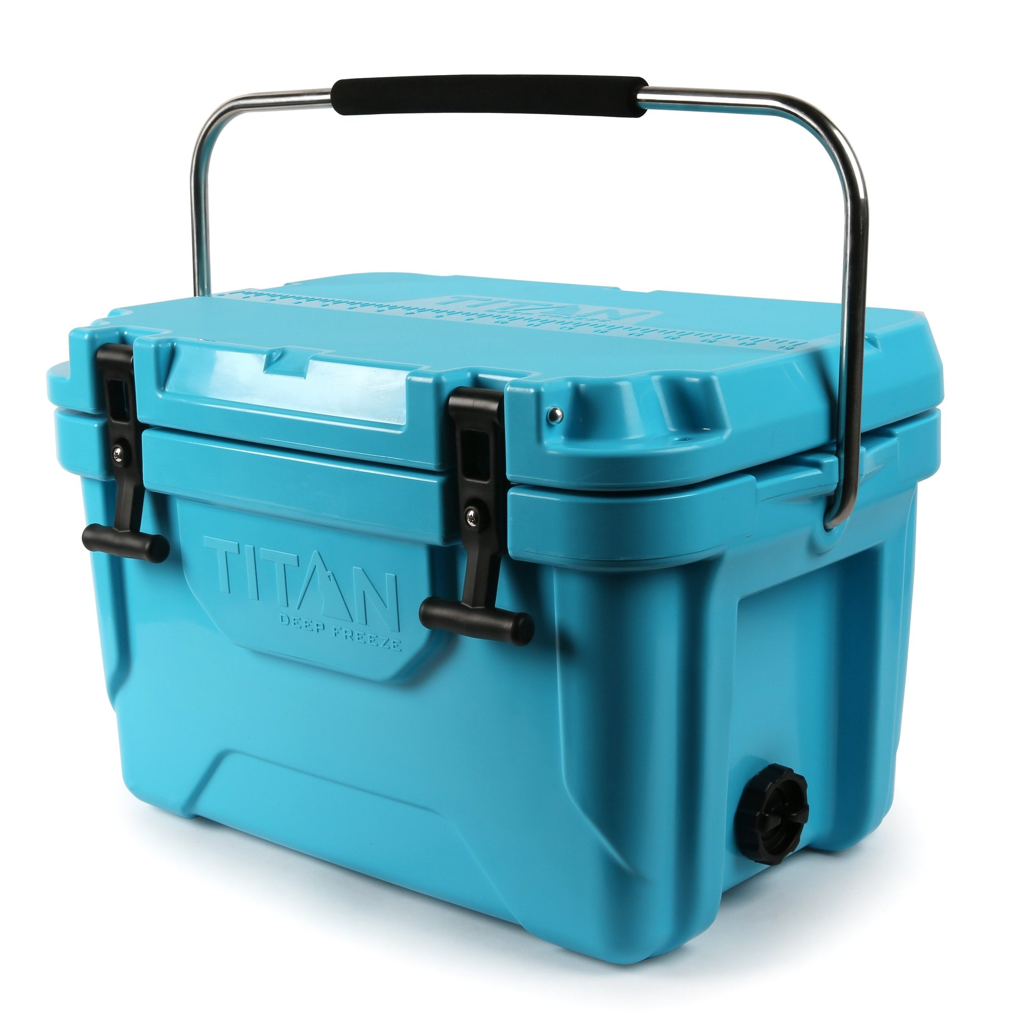 Titan Deep Freeze® 20Q Premium Ice Chest - Blue - Front, closed