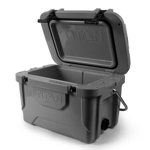 Titan Deep Freeze® 20Q High Performance Cooler - Open, Empty