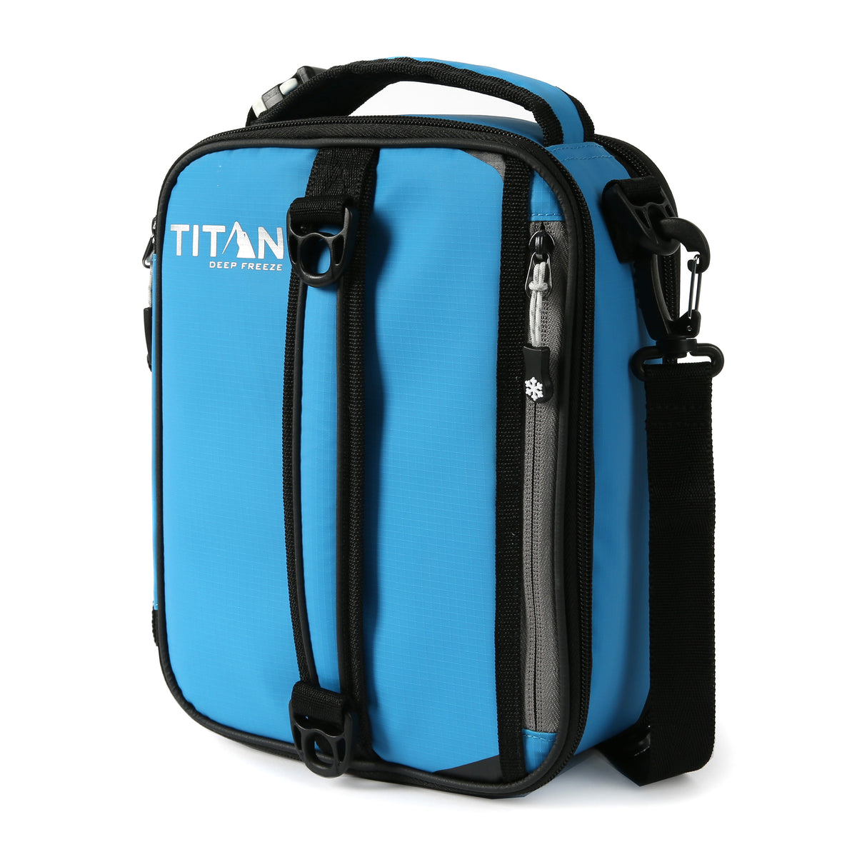 Titan Deep Freeze® Expandable Lunch Box - Blue - Front, closed
