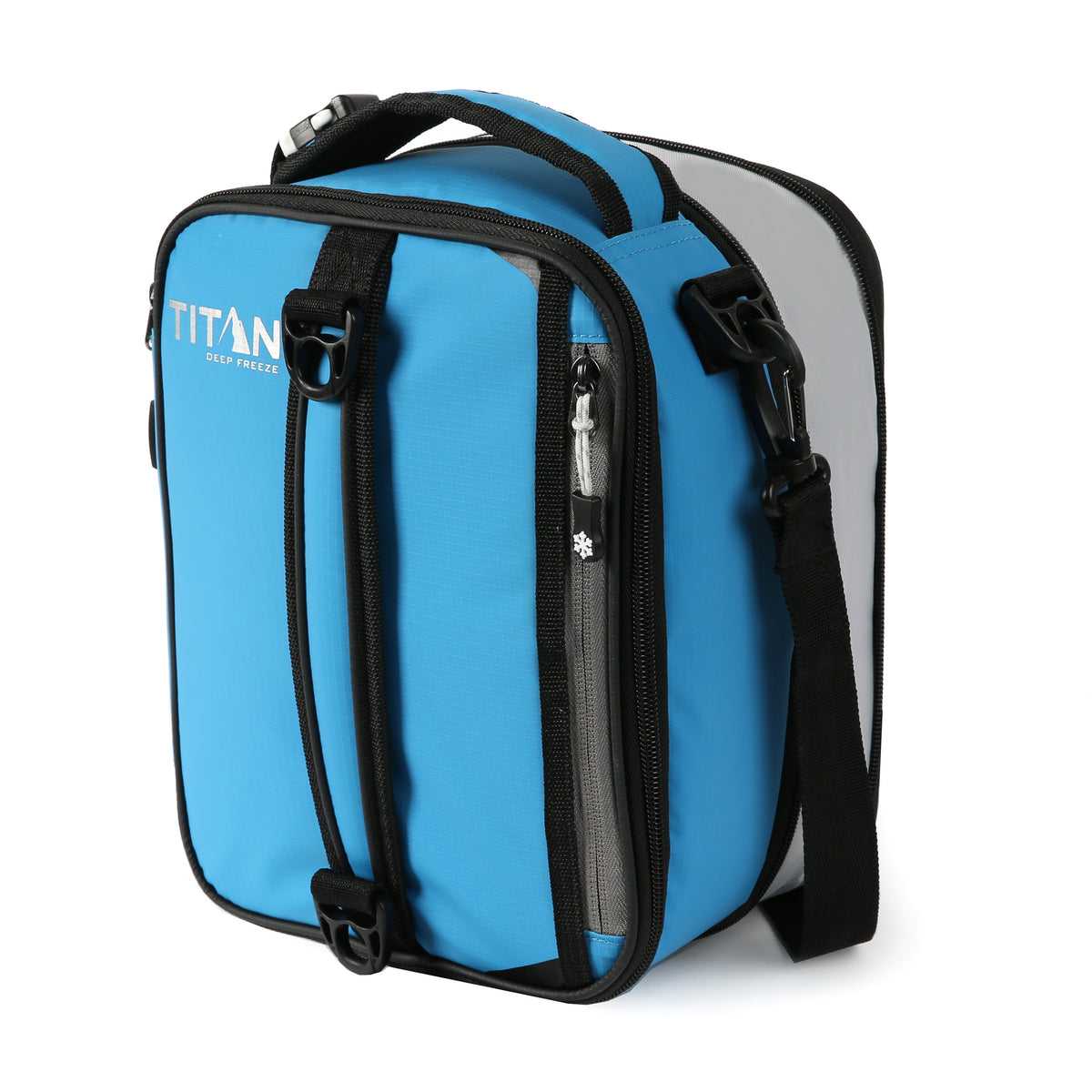 Titan Deep Freeze® Expandable Lunch Box - Blue - Front, Expanded