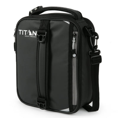 Titan Deep Freeze® Expandable Lunch Box - Black - Front, closed