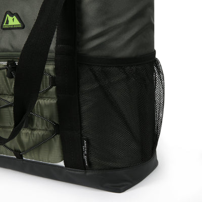 Arctic Zone® 30 Can Ultimate Sport Tote - Green - Side mesh pockets