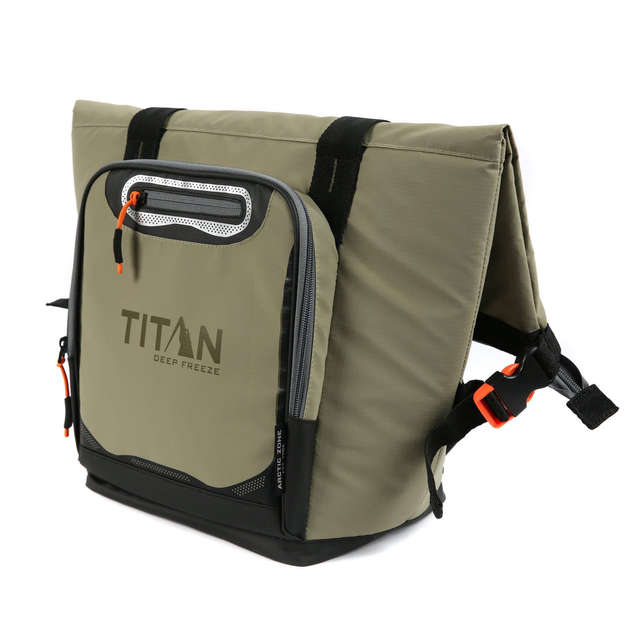 Titan Deep Freeze 12 Can Insulated Roll-Top Tote - Tan